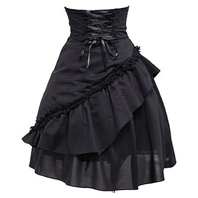 Partiss Women's Pure Cotton Ruffles Gothic Lolita Skirt