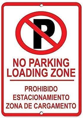 Dozili Señal de Aparcamiento Texto en inglés No Parking ...