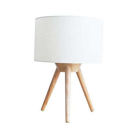HAN NAA Lámpara de Mesa, lámpara de Madera Individual Art ...