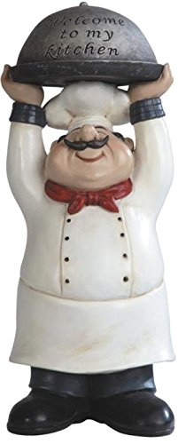 GSC Chef holding Welcome to My Kitchen Tray Figurine (Fat Chef Kitchen Cookie Jar)