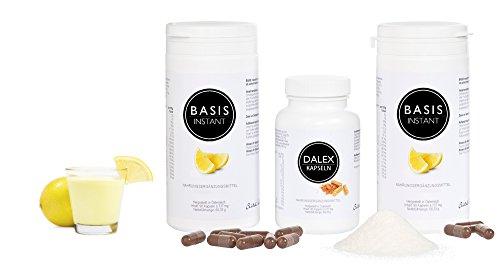 Körper entgiften als Detox Diät mit Heilpflanzen, Laktobakterien, Flohsamenschalen, Basenpulver und Inulin zur Darmreinigung & Entgiftung für eine optimale Darmflora oder zum Abnehmen - Probiotika + Ballaststoffe + Detox - 100% vegan, gluten-, laktose- und zuckerfrei