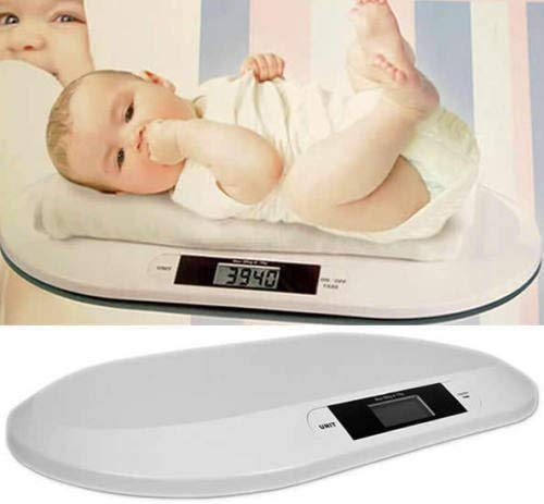 Garden Mile® PORTABLE TABLE TOP WHITE DIGITAL DISPLAY ELECTRONIC HOME BABY WEIGHING SCALES INFANT OR PET WEIGHING BATHROOM SCALES Garden Mile®