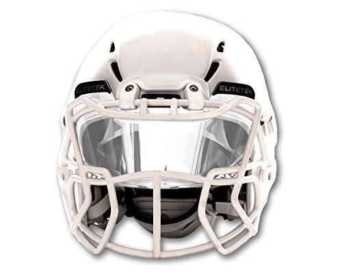 EliteTek Football & LAX Lacrosse Eye-shield Visor (Clear)