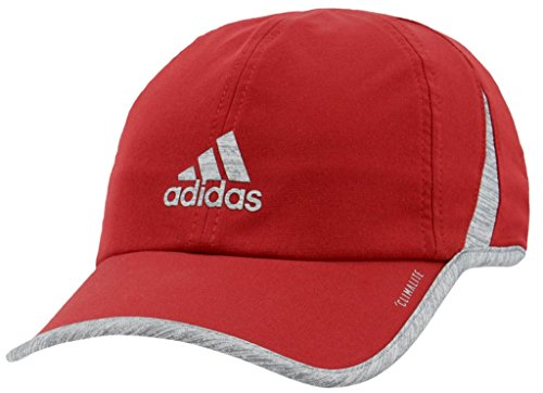 adidas Men's Superlite Relaxed Performance Cap, Noble Maroon/Light Heather Grey, One Size Adidas Red Wristband