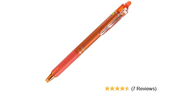 2 x Pilot FriXion Ball Knock Clicker 0.5mm Erasable Rollerball Gel Pen Orange