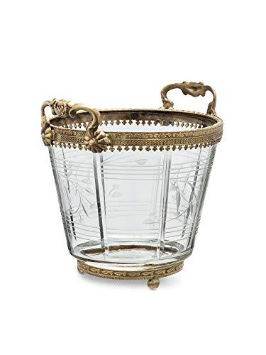 Abbott Collection 34-BOUDOIR-0794 Ornate Handled Ice Bucket-6