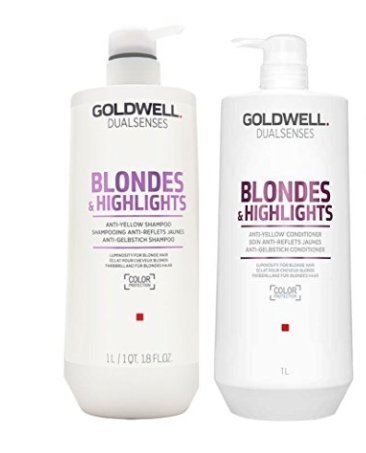 Goldwell Dual Senses Blondes and Highlights Conditioner and Shampoo Liter Duo by Goldwell