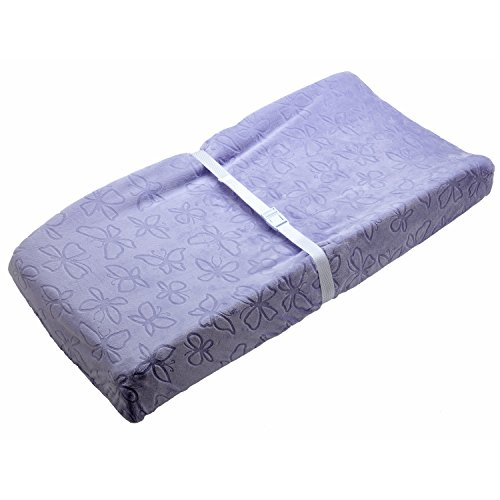 NoJo Beautiful Butterfly Super Soft Embossed Changing Pad Cover, Lavender