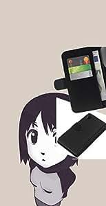 """A-type (Muchacha de la historieta japonesa linda"""") Colorida Impresión Funda Cuero Monedero Caja Bolsa Cubierta Caja Piel Card Slots Para Sony Xperia Z2 D6502"""