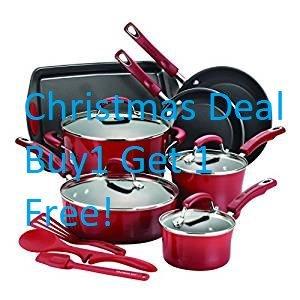12 Piece Premium Cookware Set Nonstick Ceremic Non-Toxic PFOA-, PTFE- and cadmium-free Emerilware Non Stick Cookware