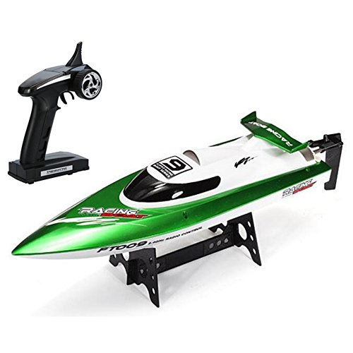 NiGHT LiONS TECH Feilun FT009 2.4Ghz 4CH HIGH SPEED Hobby Grade Professional RC Remote Radio Control Racing Boat, 18 inch BIG Electric RC Speedboat Water Cooling Motor System 30KMH for (Hobby Boats)
