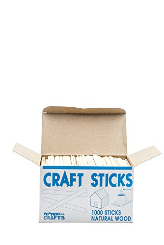 Natural Wood Craft Sticks (Pack of 1,000)