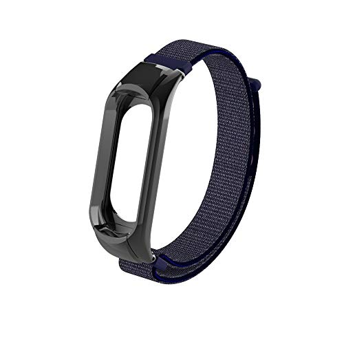 Price comparison product image BIYATE Replacement Nylon Bands Compatible for Xiaomi MI Band 3 Watch,  22mm Women's Men's Soft Nylon Sport Magnetic Watch Bracelet Straps for XIAOMI MI Band 3