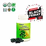 FEBICO Premium Organic Chlorella Tablets- Vegan, Best Green Superfood, Non-GMO, High Dietary Fiber, Rich Protein- USDA, Naturland, Halal Certified- 500mg, 180 Counts, 30 Days