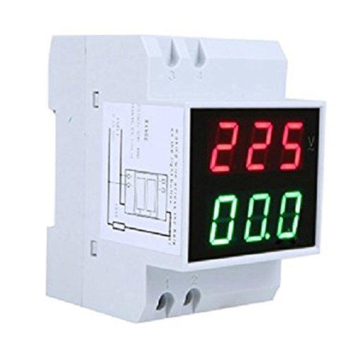 R Digital Din-Rail LED Spannungsanzeige Voltage Ammeter Current Meter Voltmeter AC80-300V 0.2-99.9A Dual Display TOOGOO