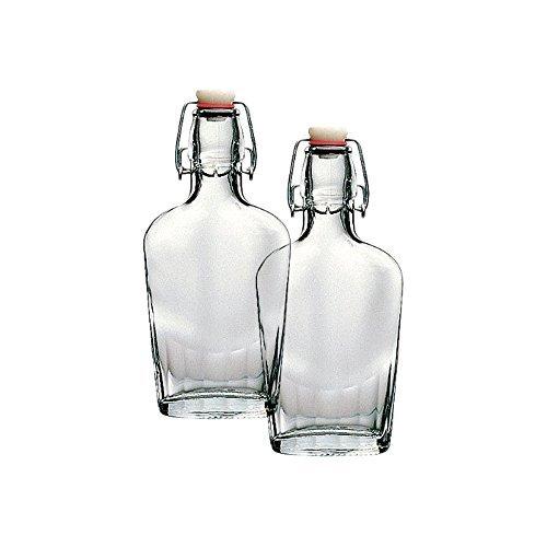 - Bormioli Rocco Fiaschetta Glass 8.5 Ounce Pocket Flask, Set of 2
