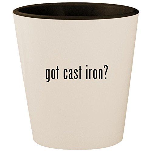 got cast iron? - White Outer & Black Inner Ceramic 1.5oz Shot Glass