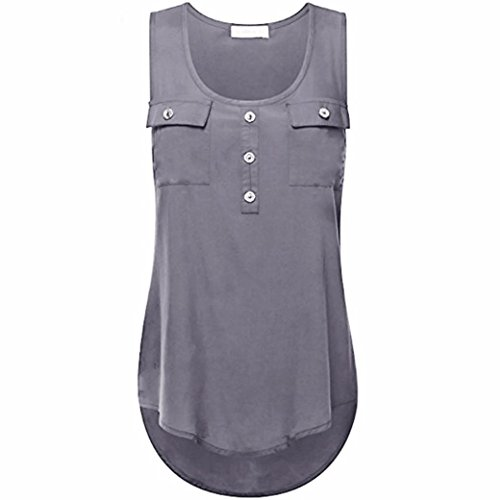 Ladies Pastel Shirt Ribbed Tank (Kulywon Women's Plus Size T Shirt Scoop Neck Sleeveless Sexy Lace Back Tank Tops)