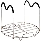 """Steamer Rack Trivet with Heat Resistant Handles, for Instant Pot and Electric Pressure Cookers (D × H, 7.7"""" × 6.2"""" for 6Qt/8Qt)"""