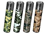 4 Clipper Lighters - Camo Collection