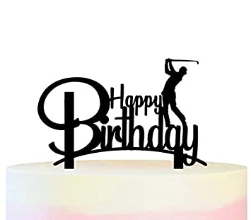 Innovedesire Happy Birthday Golf Cake Cupcake Topper para ...