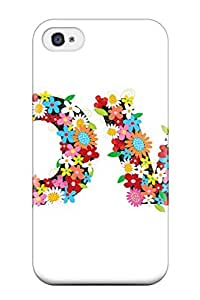 Iphone 4/4s Hard Back With Bumper Silicone Gel Tpu Case Cover Word