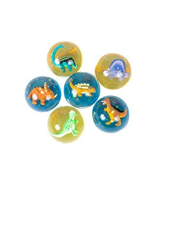 12 Assorted DINOSAUR High Bounce BALLS ~ 1 Dozen 2'' Fun Dinosaur Balls ~ Birthday Party Favors ~ Easter Basket Fillers ~ Gifts Loot Bags ~ Doctor Dentist Office Prize ~ Holidays Christmas Stocking Stuffer ~ JURASSIC PARK