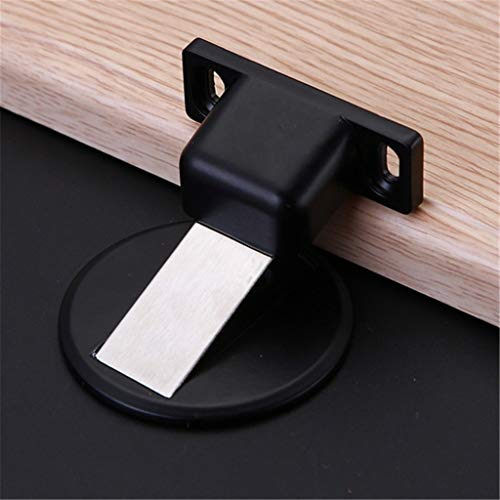Stainless Steel Magnetic Door Stop, Invisible Magnetic No Drilling Doorstop