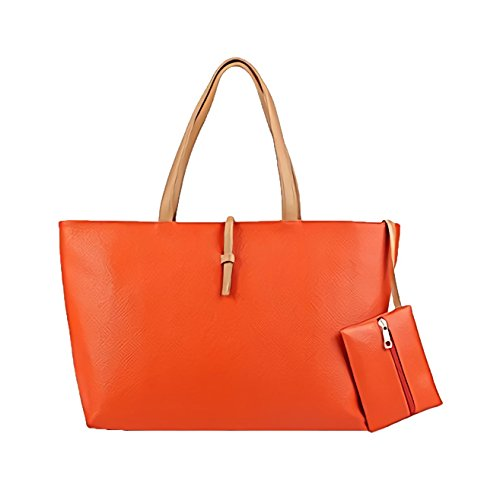 MEDIA WAVE store Borsa a mano shopping bag MWS AHEAD modello Carol da spalla donna. (Arancione)