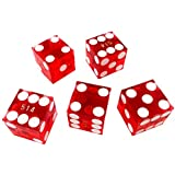 YH Poker Yuanhe Set of 5 Grade AAA Precision 19mm Serialized Casino dice with Razor Edges and Corners