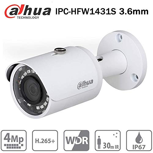 Dahua 4MP Bullet Camera IPC-HFW1431S 3.6mm IP PoE Indoor Outdoor Network Security Camera Replace IPC-HFW1420S