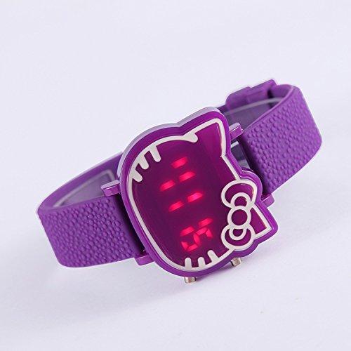2015 Nueva moda reloj digital de mujeres vestir llevaron dibujos animados reloj ocasional Watchment (p
