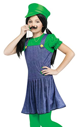 Girl Luigi Costumes (Pretty Plumber Child (Luigi Girl) Costume)