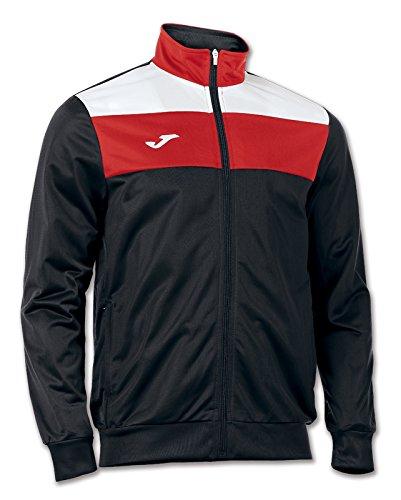 Jomaメンズクルートリコットトレーニングジャケット B0107SG69I 4L|ブラック/レッド ブラック/レッド 4L