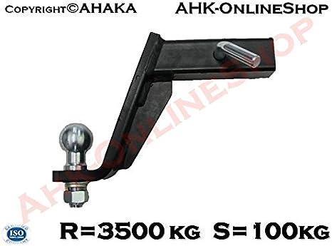 Ahk Us Adapter 51x51mm Anhängevorrichtung Anhängerkupplung Mit Tiefgezogem Kugelkopf Auto