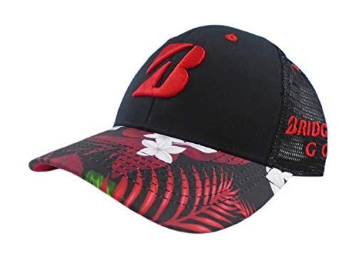 Bridgestone Cap - NEW 2018 Bridgestone Golf Luau Series Black/Red Snapback Adjustable Hat/Cap