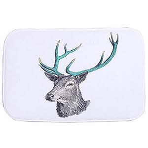 TOOGOO (R) ciervos puerta Mat Alfombra 40* 60cm
