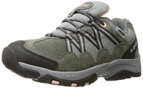 - Hi-Tec Women's Florence Low WP-W, Charcoal/Blush, 9 M US
