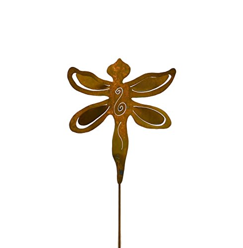 Dragonfly Rusty Metal Garden Stake