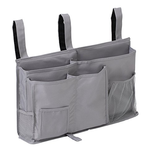 Abbien Durable Oxford Caddy Hanging Organizer Bedside Storage Bag for Dorm Rooms Bed Rails-8 Pockets