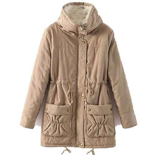 Long Womens Fit Slim Overcoat Color Mid Lapel Pure Energy Khaki Size Outerwear Plus nZBYxgUqR