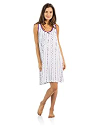 Casual Nights Women's Cotton Sleeveless Nightgown Chemise
