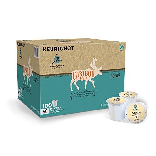 Caribou Coffee Keurig Set aside-Serve K-Cup Pods, Caribou Blend Medium Roast Coffee, (Caribou Blend Medium Roast, 100 K Cups)