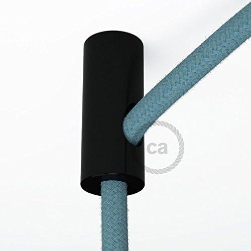Pack de 3 Fixation au mur universelle pour le passage du c/âble textile Blanc