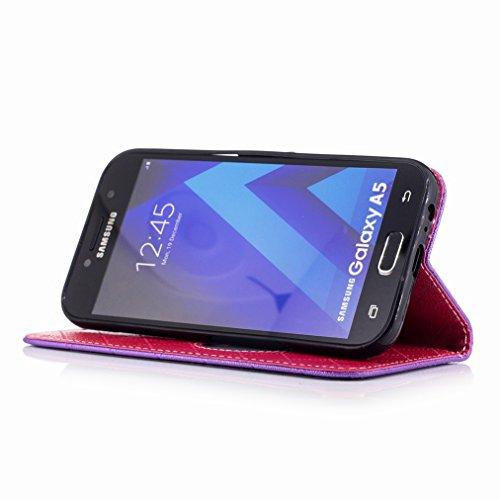 Yiizy Samsung Galaxy A5 (2017) Funda, Amar Diseño Solapa Flip Billetera Carcasa Tapa Estuches Premium PU Cuero Cover Cáscara Bumper Protector Slim Piel Shell Case Stand Ranura para Tarjetas Estilo (Mo