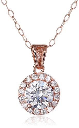 Sterling Silver Zirconia Pendant Necklace