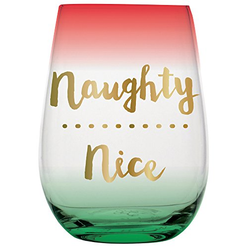 20 ounce Stemless Christmas Wine Glass -