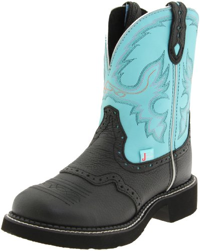 Justin Boots Women's Gypsy Boot,Black Deer Cow,9 B US (Justin Ladies Western Cowboy Boots)