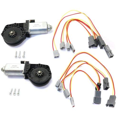 Window Motor Set of 2 Compatible with FORD CUSTOM 64-72 / Mark Iv 72-76 / Versailles 1977-80 / Bronco 1981-1996 Front Right Side and Left Side (=Rear)