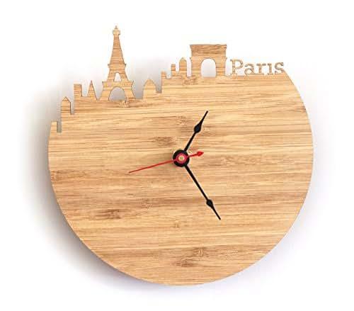 Paris Skyline Clock